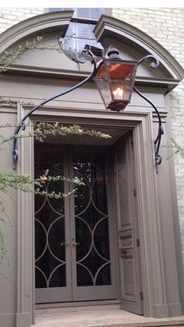 Bill Ingram Architect - lovely metal design for gas lantern