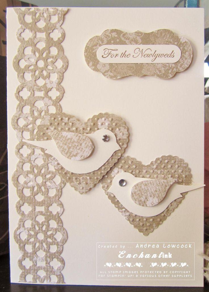 Handmade Wedding Card ... Blog: EnchantINK (CASE - Lynda Shrimpton) ... Stampin' Up! - Teeny Tiny Sentiments