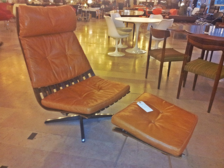 Scandia High Back Lounge Chair and Ottoman   Designed by Hans Brattrud   Year 1957 http://www.deconet.com/showroom/101/Desirable-Design