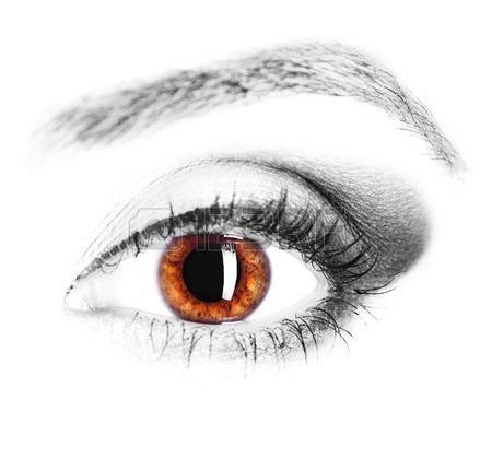 obraz lidsk ho oka hn d duhovky zbl zka Reklamní fotografie