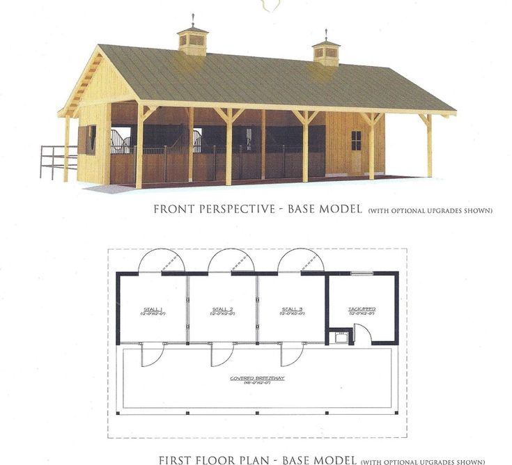 House plans with attached horse barn for Equestrian barn plans