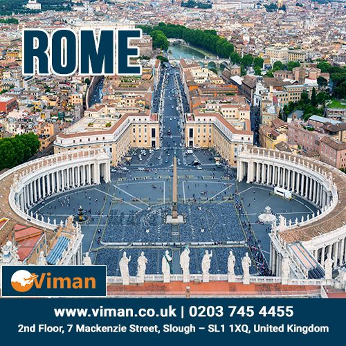Book cheap tickets and fly to Rome with www.viman.co.uk. The quick and easy way to get the lowest price on Rome tickets.