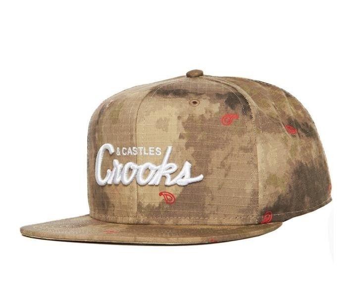 Crooks & Castles TEAM CROOKS Woven Snapback Desert Camo | Czapki \ Czapki z daszkiem | MagicTown, Incase, Stussy, RocaWear, Southpole, Crooks & Castles, Mitchell & Ness, Starter