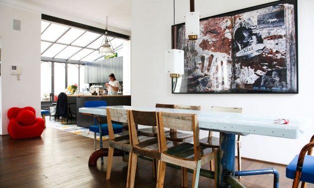 Une salle à manger éclectique -  The Socialite Family -