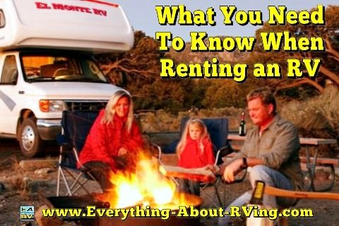 What You Need To Know When Renting an RV. You have decided to rent an RV, Here is some information you... Read More: http://www.everything-about-rving.com/motor-home-rental.html Happy RVing! #rving #rv #camping #leisure #outdoors