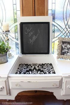 black and white dressing table, painted furniture