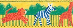 Frise adhésive «Zoo Time 1», Vénilia - Choisir ses stickers et son papier peint - Pour faire rêver les petits aventuriers, cette frise aux couleurs de la savane sera du plus bel effet dans la chambre de votre petit bout de chou. Vénilia Frise adhésive «Zoo Time 1» 14...