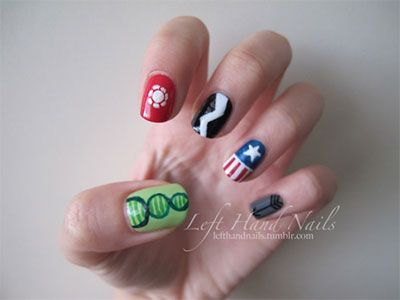 20 + Easy Avengers Nail Art Designs, Ideas, Trends & Stickers 2014