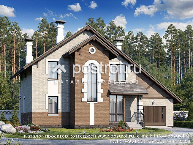 Чертежи дома с двускатной кровлей № T-143-2P