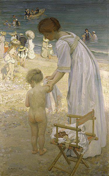 Bathing hour, E. Phillips Fox. Australian (1865-1915)
