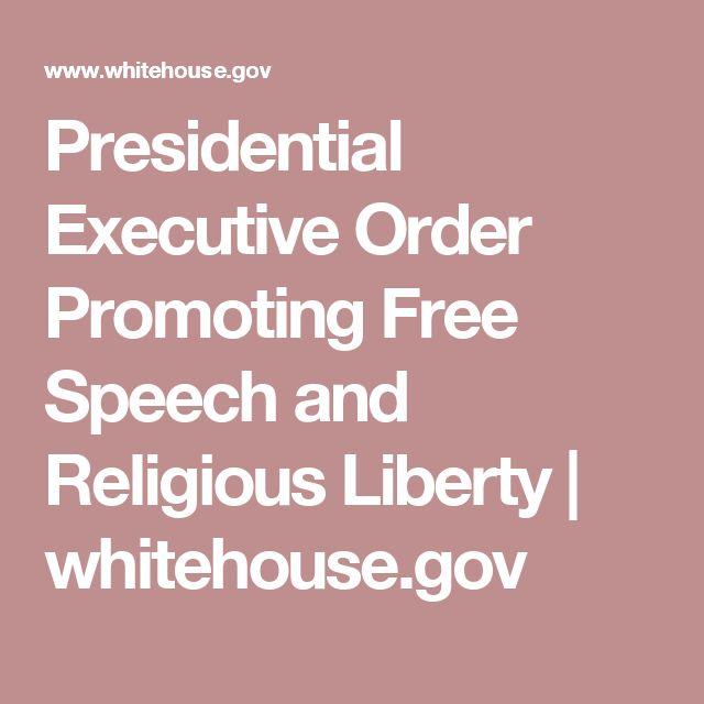Presidential Executive Order Promoting Free Speech and Religious Liberty | whitehouse.gov