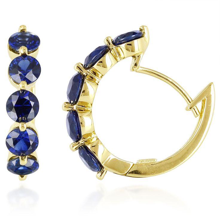 Boucles d'oreilles en or et Saphir de Pailin - un chef d'œuvre exceptionnel réalisé dans les règles de l'art. Une pièce unique, en exclusivité chez Juwelo. #Sapphire #Earrings #Jewelery #Blue #Gold #Gemstone #Gems #Luxe #Mode