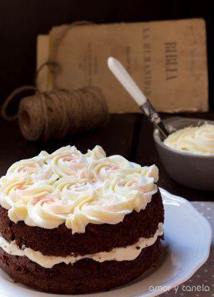 Tarta de chocolate con crema de mascarpone