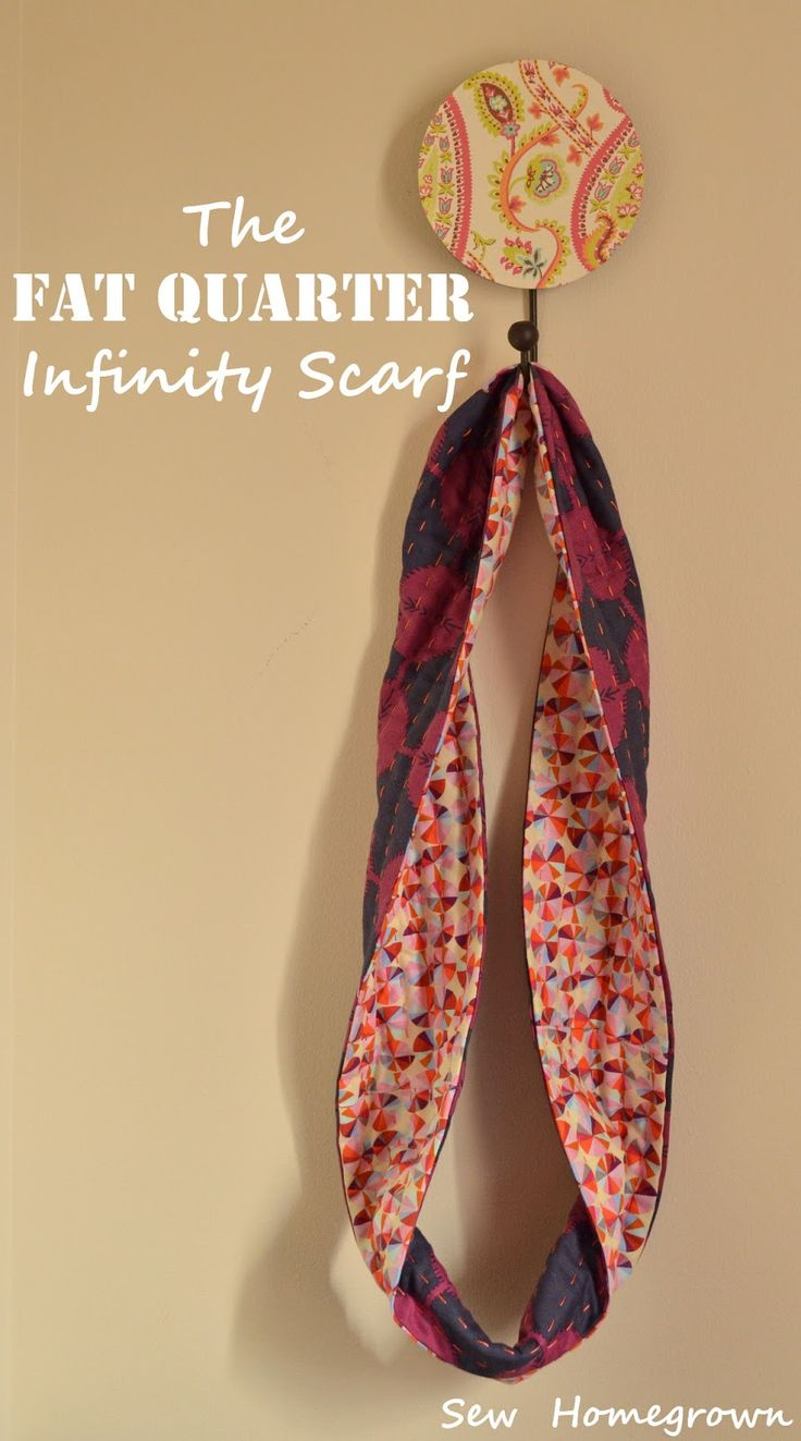 Sew Homegrown: {DIY}The Fat Quarter Infinity Scarf