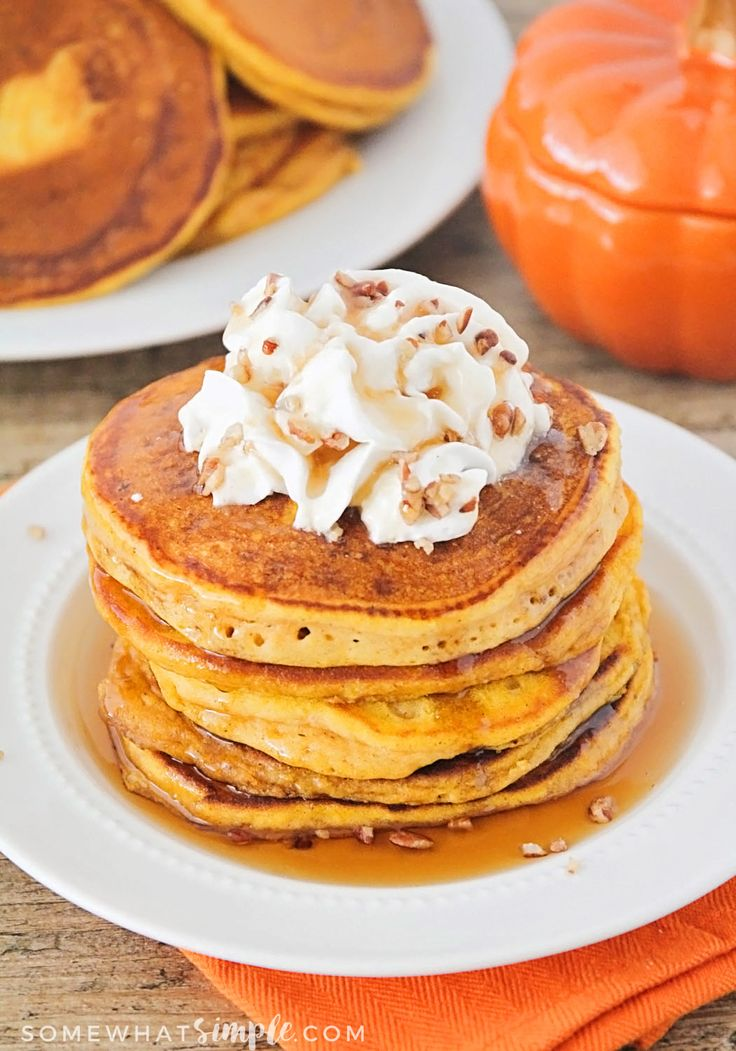The Best Pumpkin Pancakes Recipe - Somewhat Simple