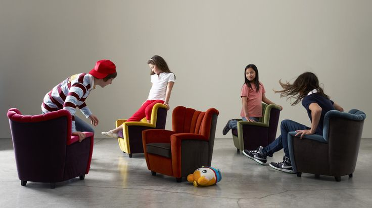 Little armchair. Wooden frame with polyurethane upholstery. Zarina baby #armchair #kids #colours #play