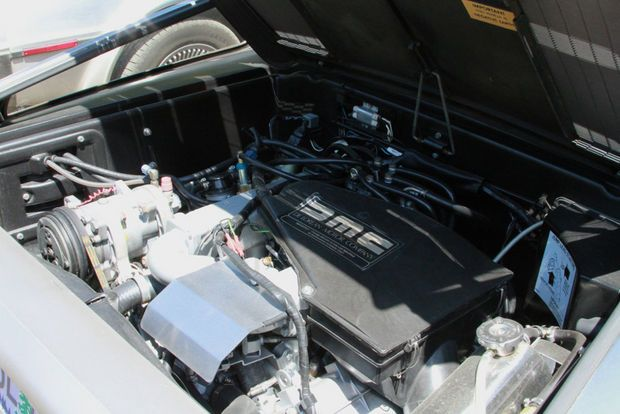 A DeLorean engine is made up of parts from other car companies.