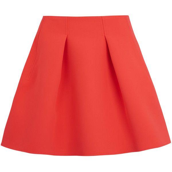 Kenzo Coral Neoprene Tulip Skirt found on Polyvore