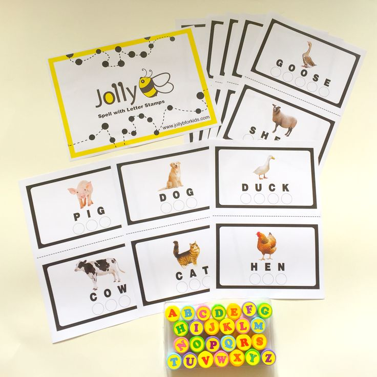 Preschool Learning Games - Spell with Letter Stamps