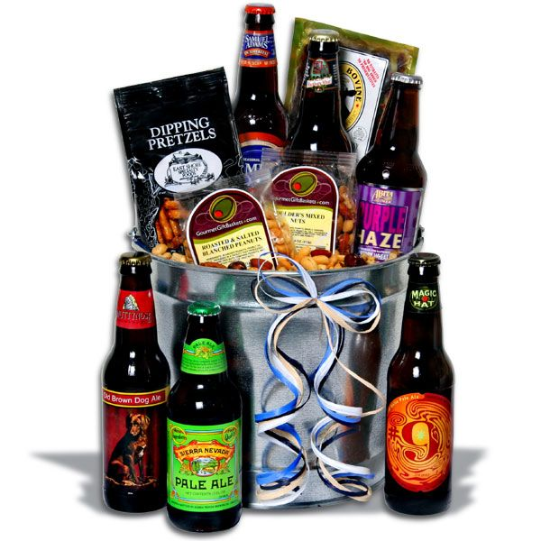 Microbrew Beer Bucket Gift Basket™ - 6 Beers