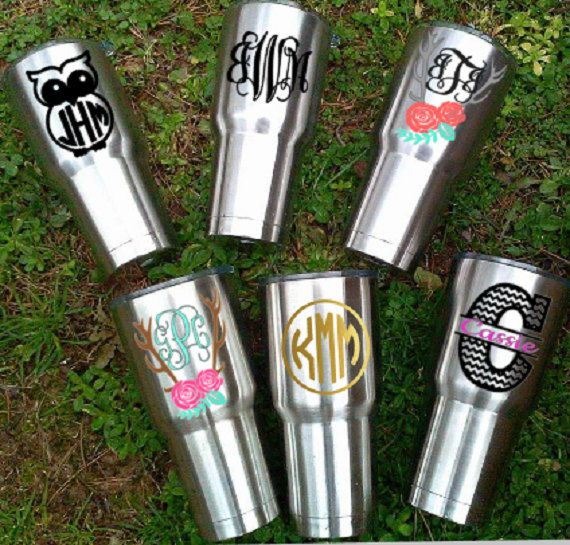Cup Decals Stickers for RTIC Cup Corksicle by JustVinylDesigning