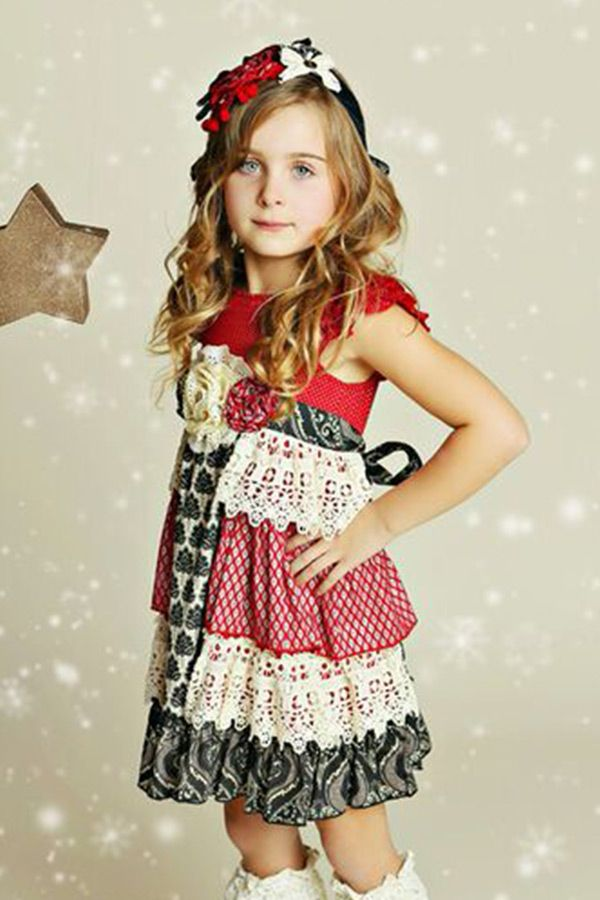 mustard pie christmas dress for girls delphine preorder