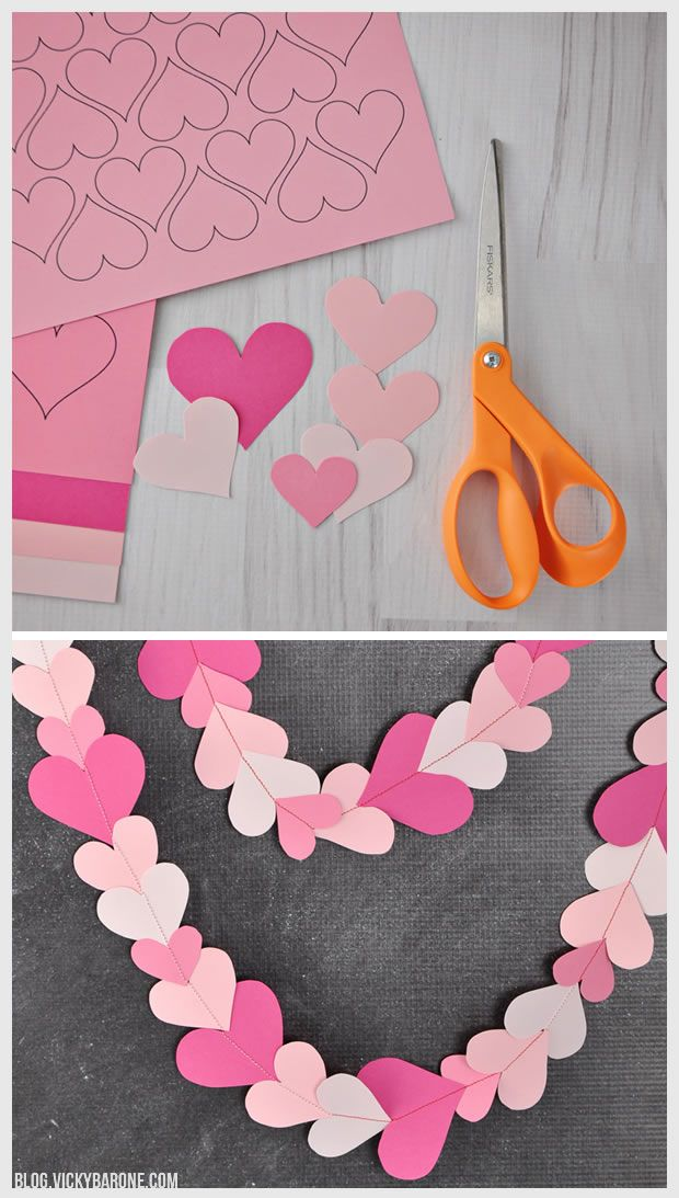DIY Paper Heart Garland | Vicky Barone