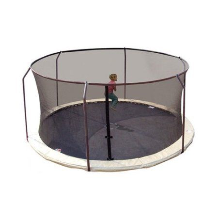 Upper Bounce Replacement Trampoline Safety Net Enclosure for 6 Curved Pole with Top Ring Enclosure