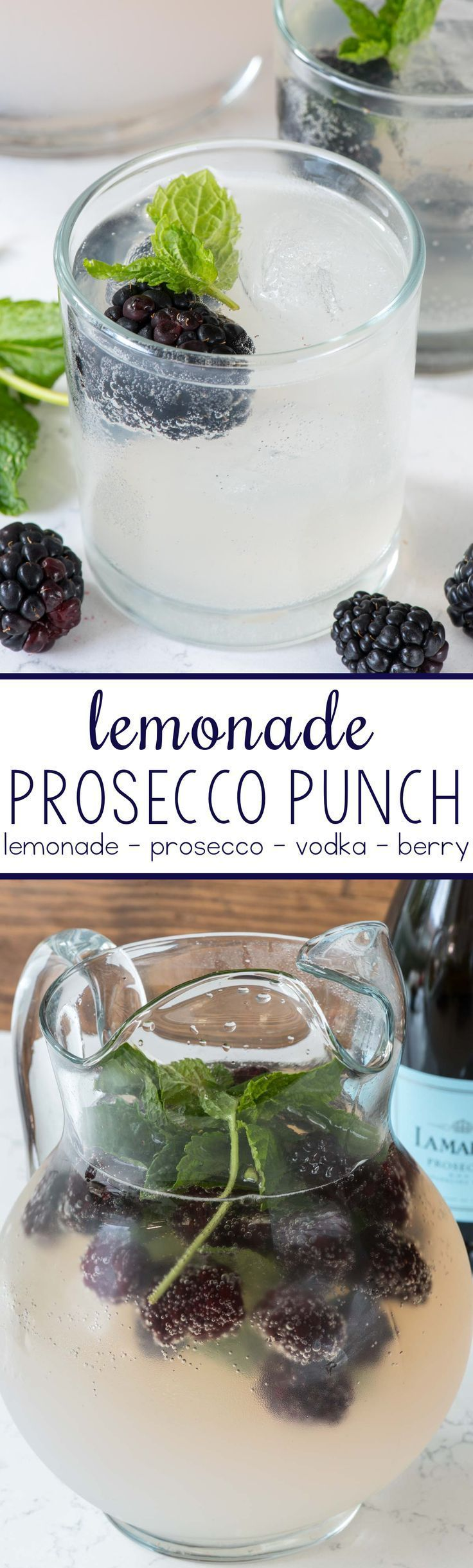 Lemonade prosecco punch this easy cocktail punch comes for Drinks with prosecco and vodka