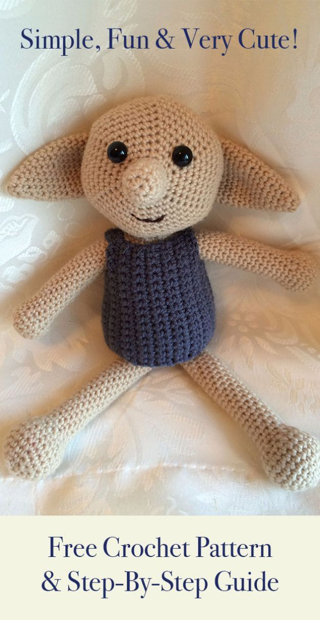 Free Amigurumi Patterns For Beginners and Pros - Dobby The House Elf Toy - Easy ...