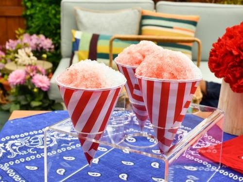 """Snow Cone Syrup (Patriotic Party) - Jeff Mauro, """"The Kitchen"""" on the Food Network."""