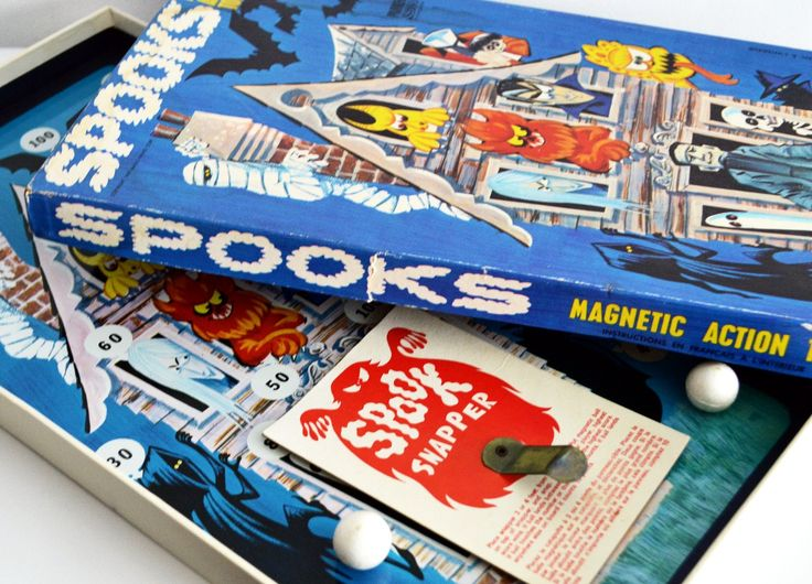 Rare Spooks Magnetic Action Toy, Parker Brothers Board Game, Vintage Game, 1969, Magic Wand Corp. by Retrorrific on Etsy
