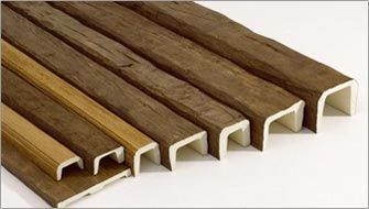 Faux wood beams for ceiling     http://www.miamifoam.com/images/beams.jpg