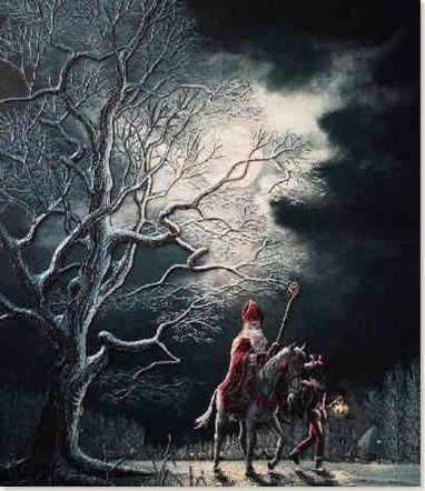 Sinterklaas op zijn paard