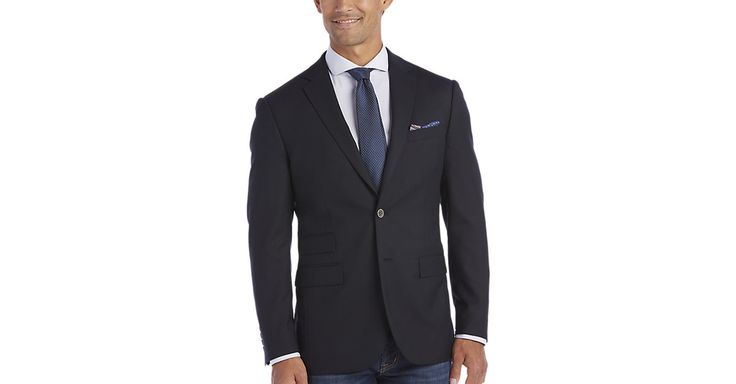 $49 Check this out! Egara Dark Navy Slim Fit Blazer - Men's Blazers from MensWearhouse. #MensWearhouse
