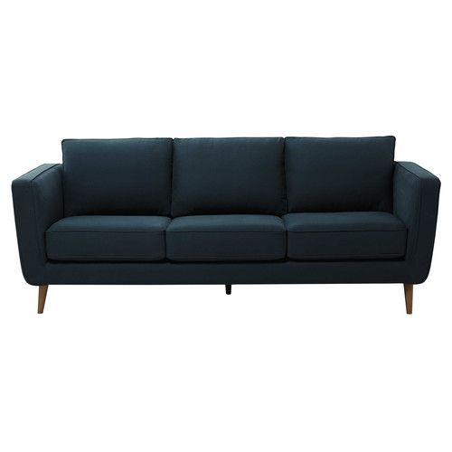 3/4 seater Kendo fabric sofa in peacock blue