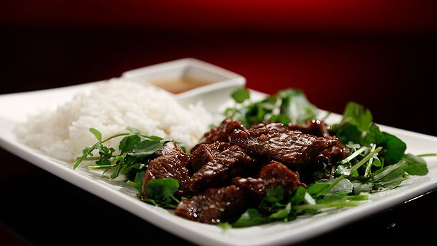 MKR4 Recipe - Marinated Beef with Watercress and Lemon Dipping Sauce