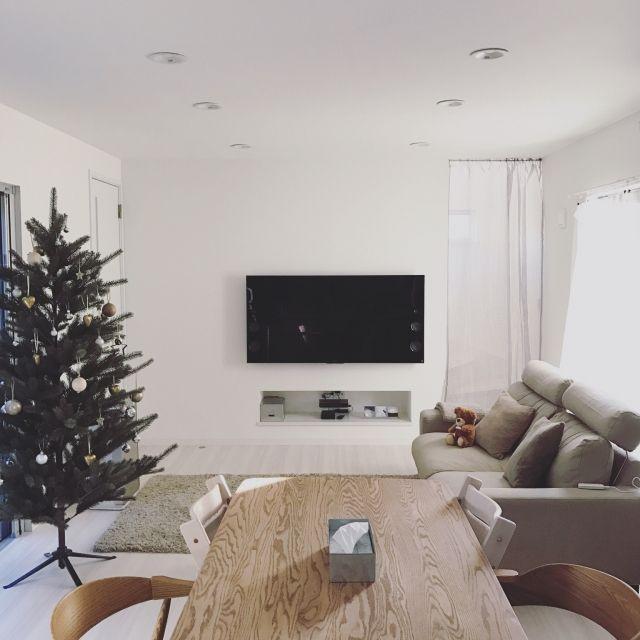 itoさんの、部屋全体,無印良品,IKEA,ソファ,ダイニングテーブル,momo natural,スッキリ,シンプルインテリア,のお部屋写真