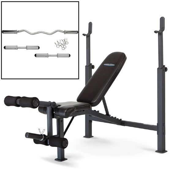 Marcy Competitor Olympic Bench with Hollow Bar Kit