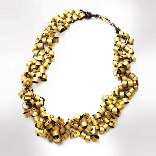 Locally handmade brass necklace    $240    Michelle Ross Jewelry, mnross.com