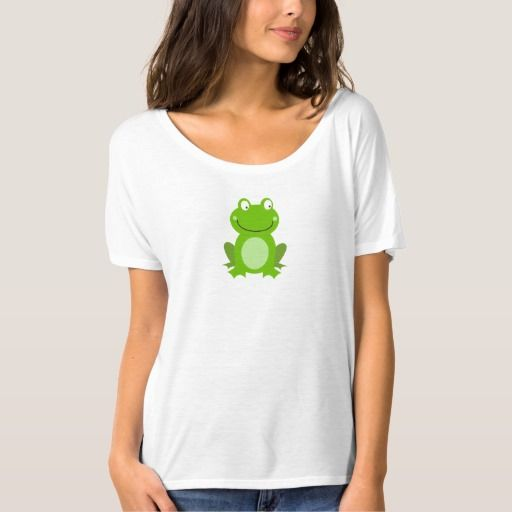 Women's t-shirt : Little green Frog design