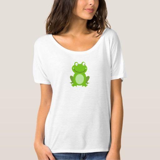 Women's t-shirt : Little green Frog design