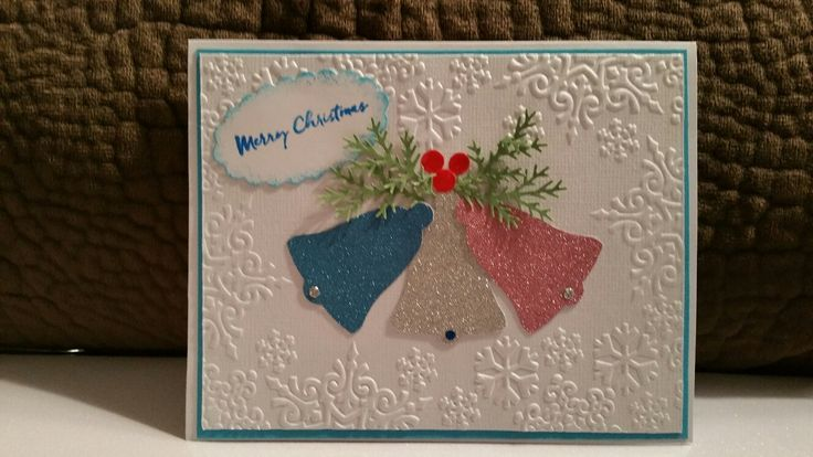 Stampin Up! Bells Punch. Glitzy Glitter Paper Pack from Joanne.