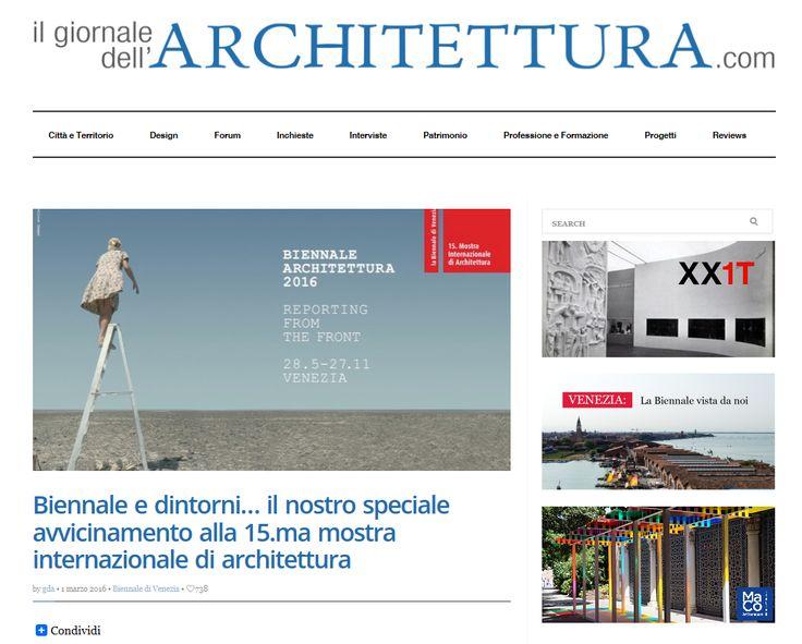 Ma-Co Italia sul Giornale dell'Architettura - Speciale Biennale Venezia 2016  Scoprite di più su: http://ilgiornaledellarchitettura.com/…/biennale-e-dintorn…/ http://ilgiornaledellarchitettura.com/…/maco-per-la-valori…/