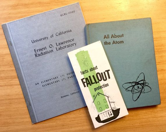 Vintage Nuclear Fallout Book Collection All amAbout by Retroburgh