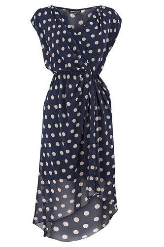 Wrap Dresses #refinery29  http://www.refinery29.com/38992#slide8  Warehouse Dot Spot Wrap Dress, $79.90, available at John Lewis.