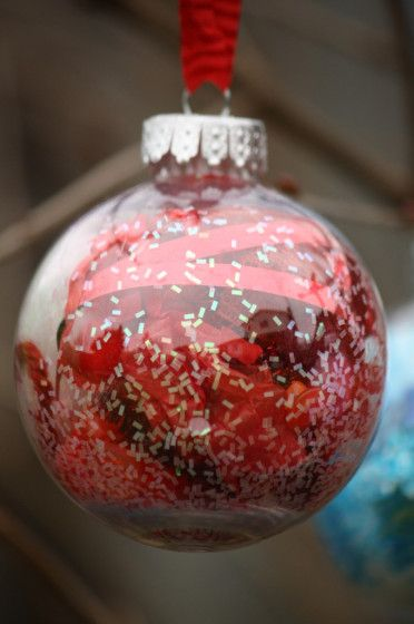 Christmas Ornament Craft Clear Balls : Best images about glass christmas ornaments on
