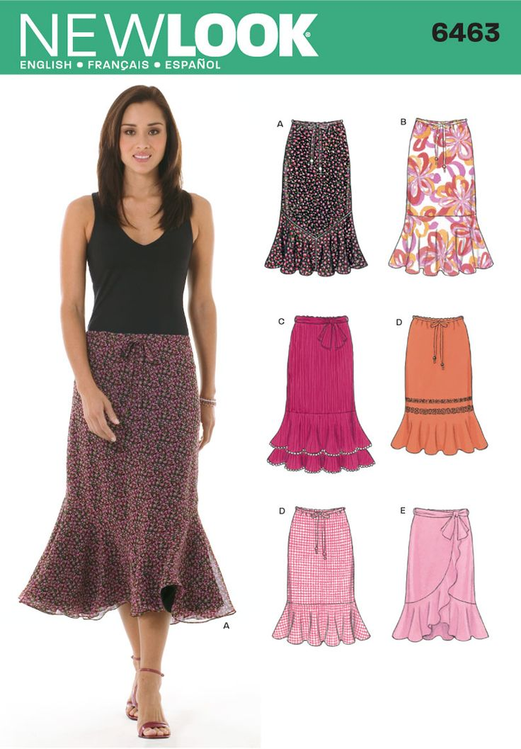 one of my favorite skirt patterns, and super easy...Simplicity : 6463