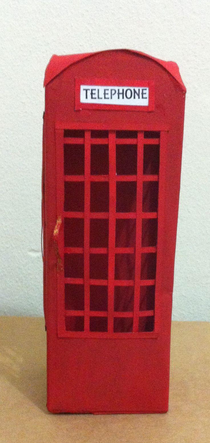 Cabine telefônica de caixa de leite