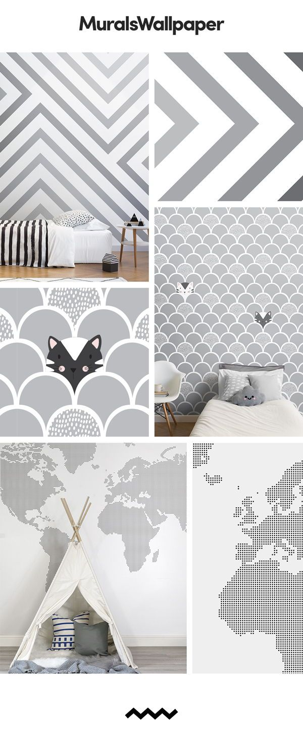Looking For A White And Grey Nursery Wallpaper With Cool Refreshing Edge Then Look No Further Cute Fun Designs That Pack